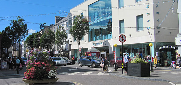 Tralee town centre at The Mall